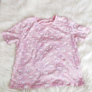 Bluenotes pink flamingo cotton tee